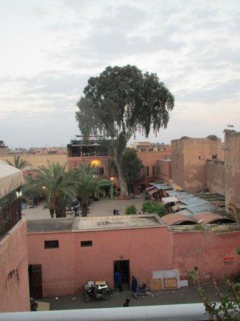 Riad Aladdin: Udsigt fra tagterrasse