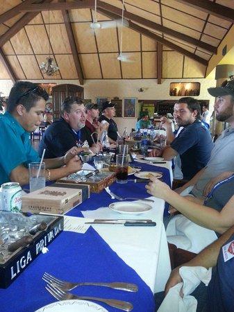 El Tiscapa: Drew Estates group had a superlative meal.