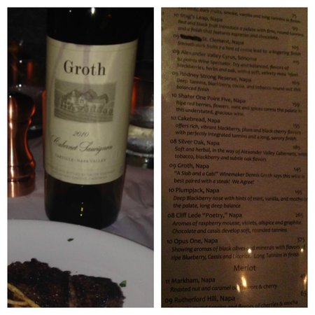 Theo's: Ordered the 2009 Groth but got a 2010 bottle