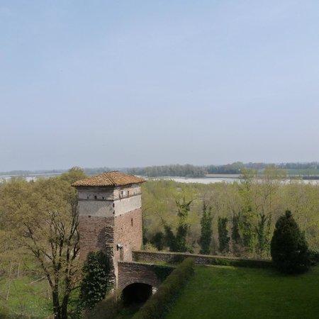 Castello di Rivalta : Vista sul Trebbia