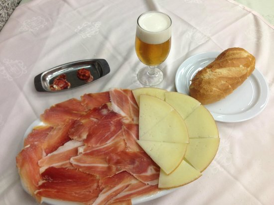 8.20 euro meal anyone at museo del jamon