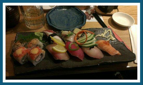 En Japanese restaurant: Sushi