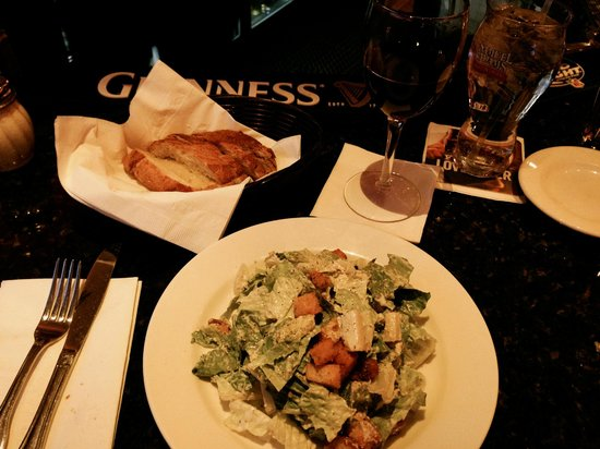 Patzeria Family & Friends : The Cesare salad.  The garlic bread is simply amazing with slivers of garlic in each piece.