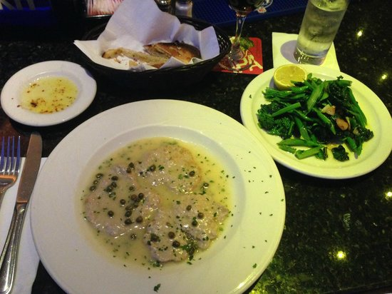 Patzeria Family & Friends : The Veal Piccata with a side of broccoli rabe!  Delicious!