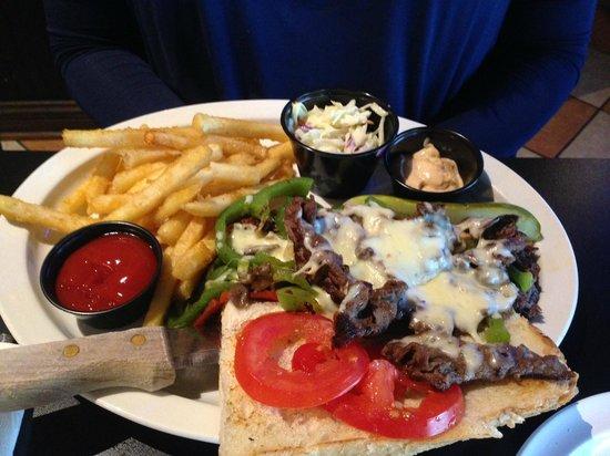 Bleu Monkey Grill: Tusk's Cheesesteak