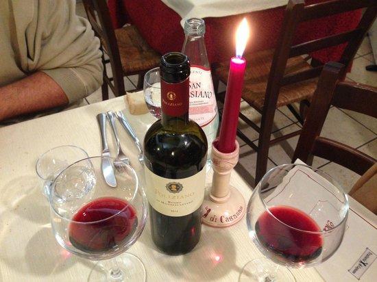 Trattoria di Cagnano: vino rosso