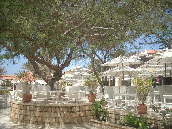 Hotel Morabeza: external breakfast dining area