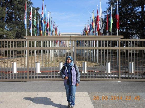 UNOG - Palais des Nations : member countries flag