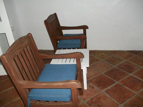 "Windjammer Landing Villa Beach Resort : our ""comfortable"" lounge chairs"