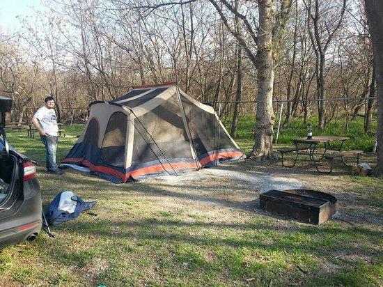 San Antonio KOA Campground: Camping site at KOA