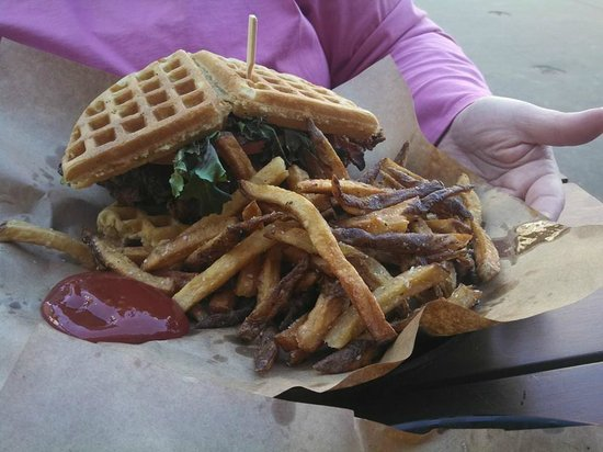 Stock and Barrel: chicken and waffles