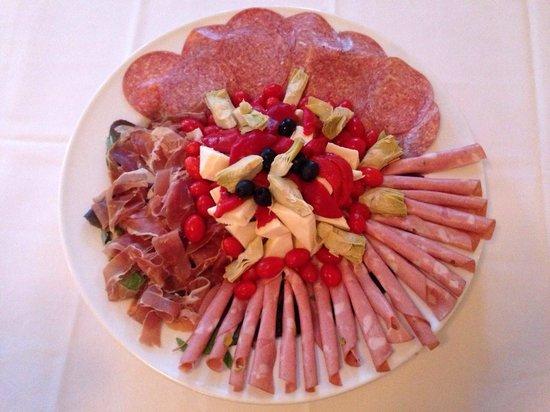 """Cherubina Ristorante: Meats and cheeses platter """"antipasto"""""""
