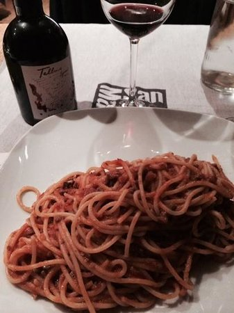 Pizzeria San Marco : spaghetti and great wine!