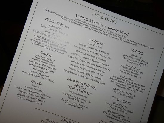 Fig & Olive : The Choices
