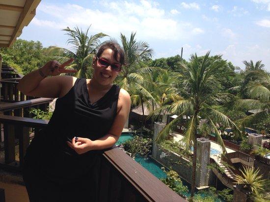 Kuta Paradiso Hotel: Posing on third floor room balcony