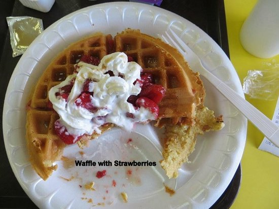 Sunrise Biscuits of Oxford: Waffle and Strawberries