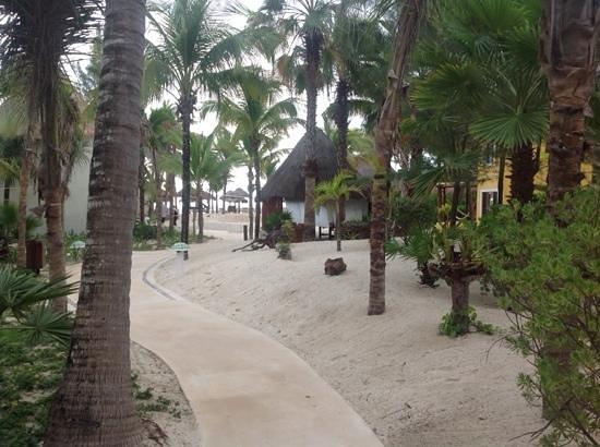 Mahekal Beach Resort: mahekal - walkway to the beach
