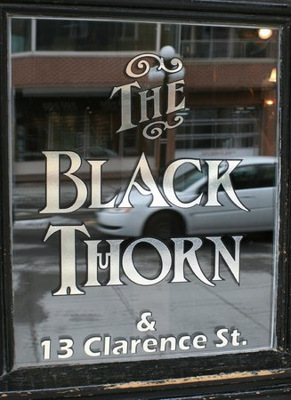 The Black Thorn Cafe: enter through the door at the left of the pub