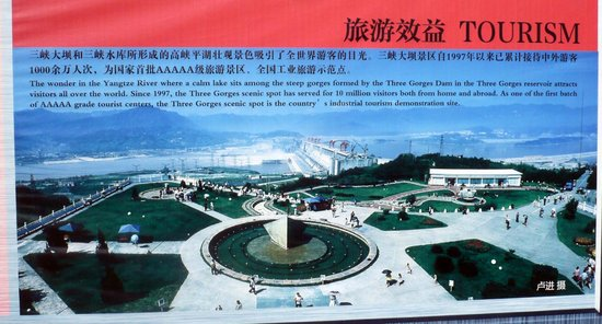 Three Gorges Dam Project: A poster of the Three Gorges Dam