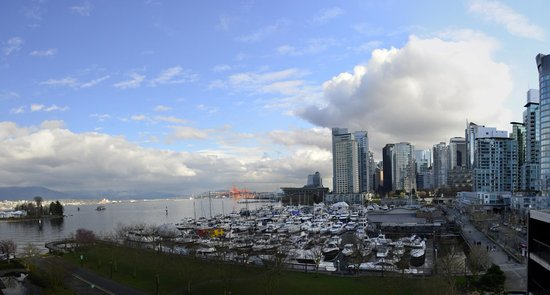 The Westin Bayshore, Vancouver: This is the view out of our window!
