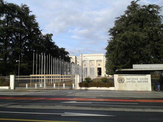 UNOG - Palais des Nations : ONU sem bandeiras