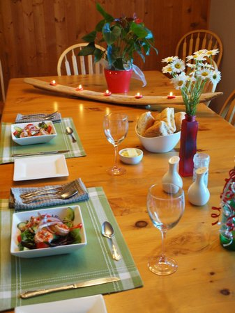 Sauble Falls Bed & Breakfast: Gourmet meal options too… just ask!