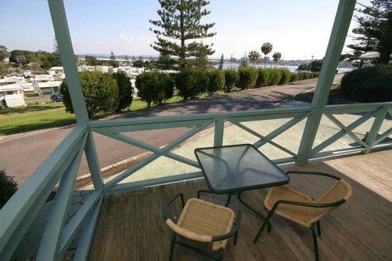 North Coast Holiday Parks Forster Beach : Views from our Spa villa veranda's