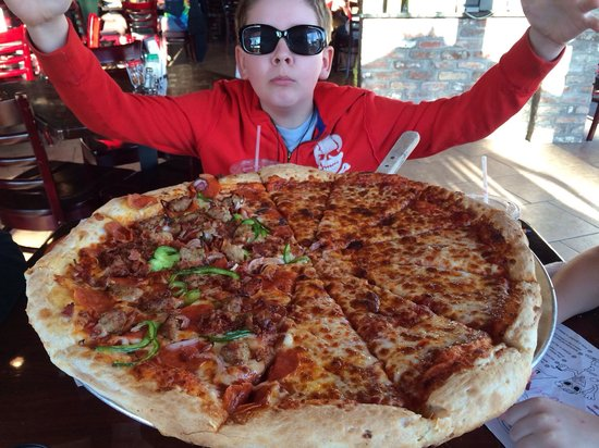 Rotolo's Pizza: 18 inch pizza was real good. Fed family of 4.