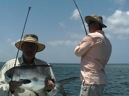 Early Bird Fishing Private Charters: Dad has his while I'm still fightin'