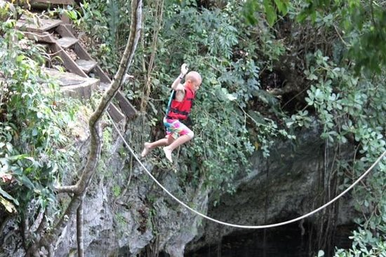 Cenote Verde Lucero: Z taking care of business!