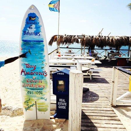 Tony Macaroni's Conch Experience: Tony's at Taino Beach