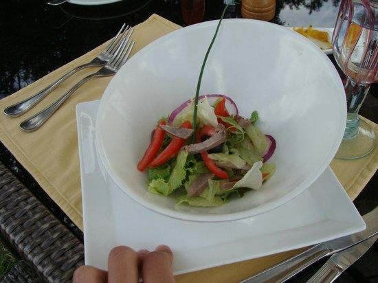 Neptune Mara Rianta Luxury Camp: salad appetizer
