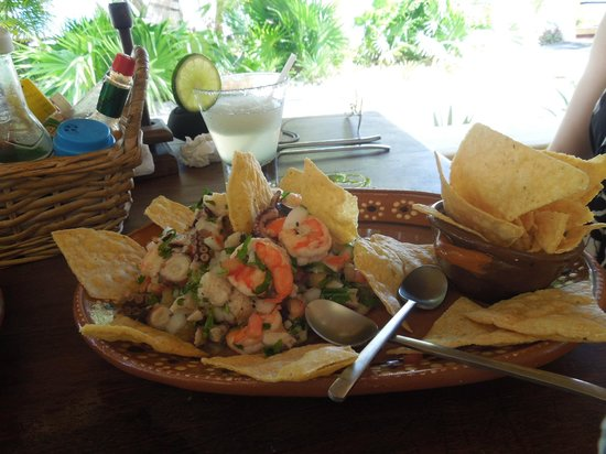 Maya Luna Restaurant: Ceviche for lunch...highly recommended!!