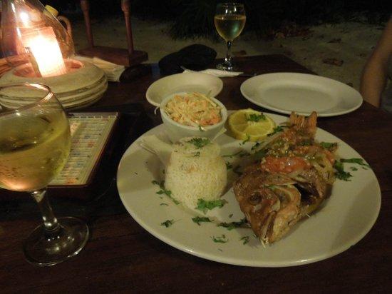 Maya Luna Restaurant: Freshly caught snapper