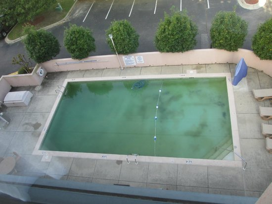Holiday Inn Express Tallahassee East: View of the pool from our room