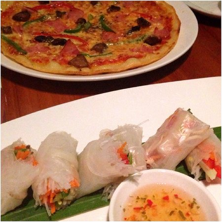 The Deck: Stone oven Pizza & Rice paper rolls