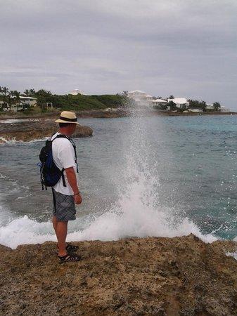 Tahiti Beach: sea spray