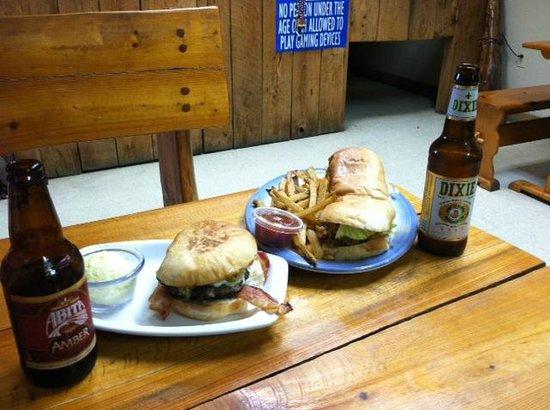B & C Seafood Market & Cajun Restaurant: Muffaleta burger, Oyster Po Boy, and local brew