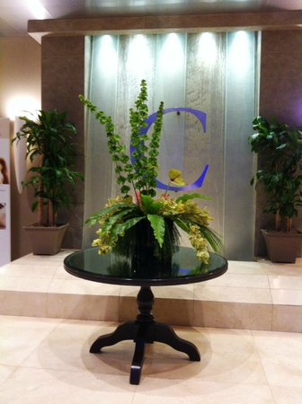The Flower Arrangement And Quot Water Fall Quot By Hotel Lobby