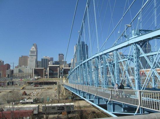 Roebling Suspension Bridge: View from Bridge