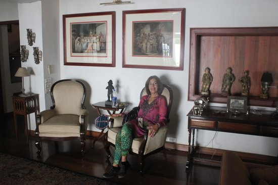 Neemrana's Le Colonial: Oneof several sitting areas, furnished with colonial memorabilia.