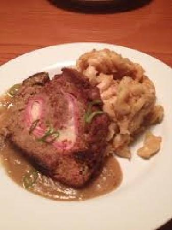 The Green Goat Food & Drink: Ham and Swiss Stuffed Meatloaf with Newcastle mac n' cheese
