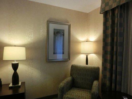 Hilton Garden Inn Toronto Downtown: 最初に二泊した部屋。