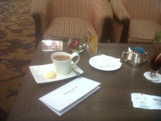 Gran Melia Jakarta: My $8 USD coffee and $8 Juice!