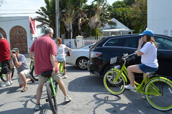 Key Lime Bike Tours: Getting ready to depart on our tour