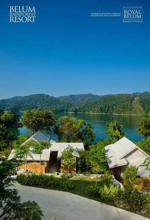 Belum Rainforest Resort: roof top lounge, resort view