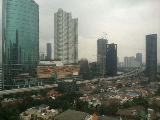 JW Marriott Hotel Jakarta : View from Room (Bedroom)