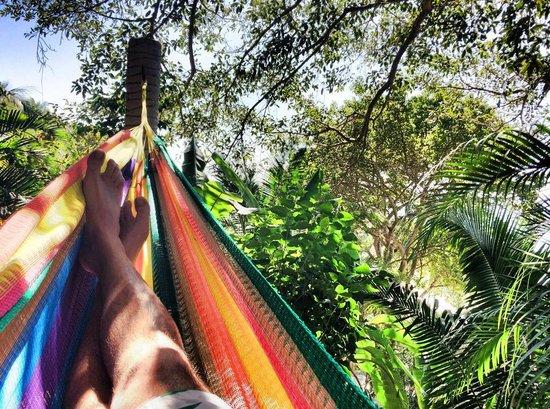 Playa Escondida: descansando