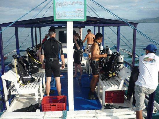 Cooper's Beach Resort: Great diving for beginners!