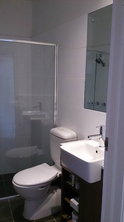 Mercure Grosvenor Hotel: Small but efficient bathroom - wish it had a window, though
